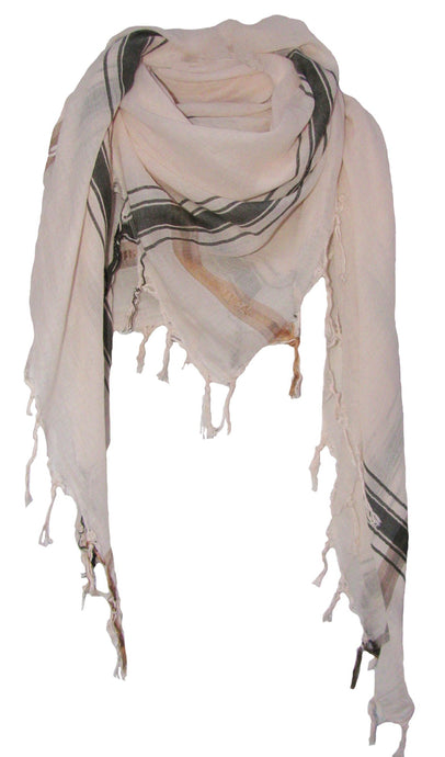 Soft Cream - Fine Cotton Voile Scarf