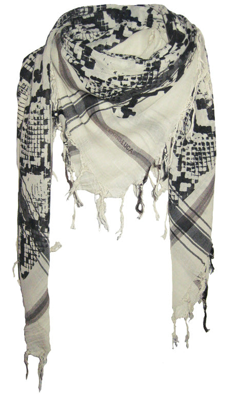 Snake Sea Foam - Fine Cotton Voile Scarf