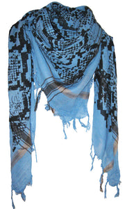 Snake Ocean Blue - Fine Cotton Voile Scarf