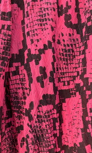 Snake Pink - Fine Cotton Voile Scarf