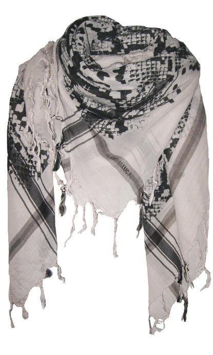 Snake Sand  Shades - Fine Cotton Voile Scarf
