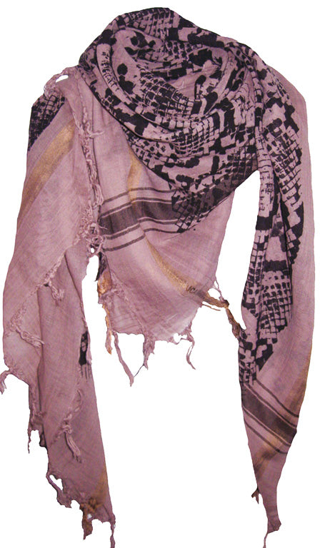 Snake Soft Smoke - Fine Cotton Voile Scarf