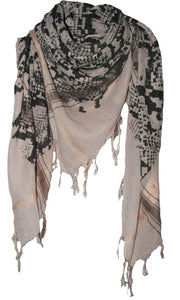 Snake Soft Stone - Fine Cotton Voile Scarf