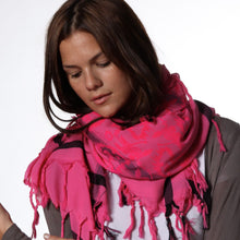 Load image into Gallery viewer, Warrior Pink Story - Fine Cotton Scarf