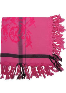 Warrior Pink Story - Fine Cotton Scarf