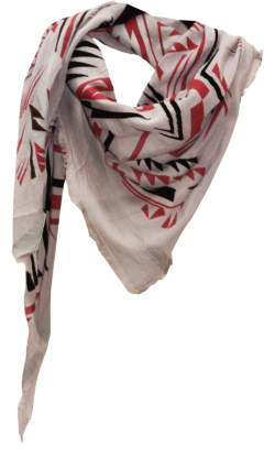 Aztek - Fine Silk Cotton Scarf Triangle