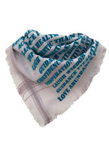 Load image into Gallery viewer, Affirmation Bandana Ocean - Cashmere Blend