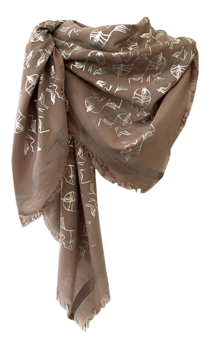 Charleston Glamour -  Fine Silk Cotton Scarf