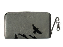 "Load image into Gallery viewer, ""LEIGH"" Wallet Shadow Birds Grey"