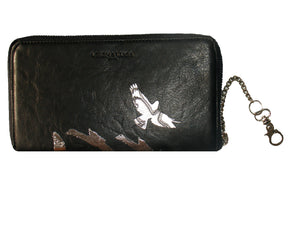 """LEIGH"" Wallet Shadow Birds Black"