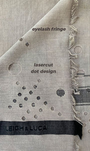 Lasercut Dots - Fine Cotton Scarf