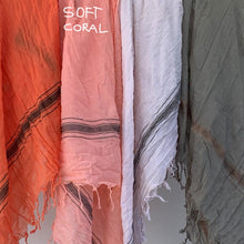 Load image into Gallery viewer, Soft Coral - Fine Cotton Voile Scarf