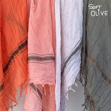 Load image into Gallery viewer, Soft Olive - Fine Cotton Voile Scarf