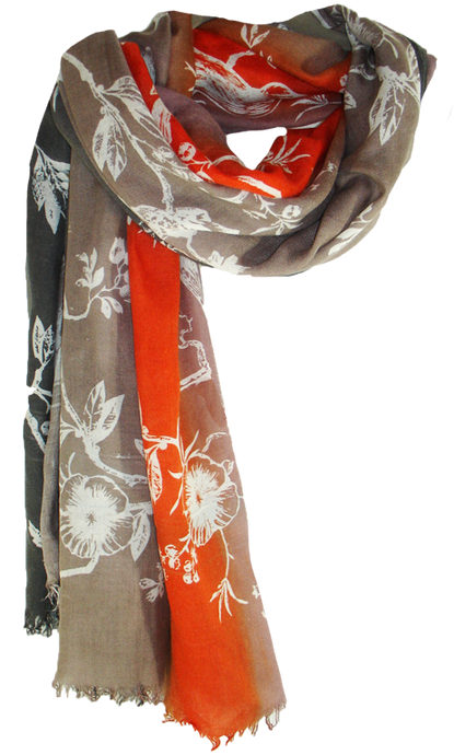 Birdtoile - Shades of Fire - Cashmere Blend Scarf