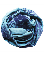Load image into Gallery viewer, Ocean Peacock - Fine Cotton Scarf