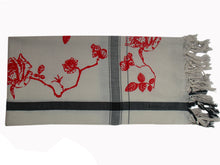 Load image into Gallery viewer, Pink & Red Velvet Rosetoile  - Fine Cotton Scarf