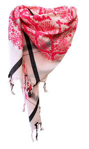 Snake Candy Pink - Fine Cotton Scarf