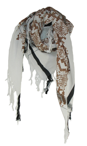 White Snake - Fine Cotton Scarf Triangle