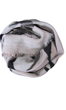 Load image into Gallery viewer, Silver Shadow Birds - Fine Silk Cotton Scarf