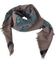 Load image into Gallery viewer, Warrior Teal Story - Fine Cotton Scarf