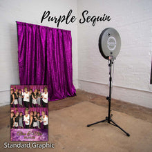 Load image into Gallery viewer, Purple sequin photo booth by mail