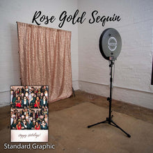 Load image into Gallery viewer, Rose Gold Sequin selfie station backdrop