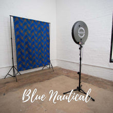 Load image into Gallery viewer, Blue Nautical Photo Booth Backdrop
