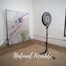 Load image into Gallery viewer, Natural Marble backdrop for photo booth