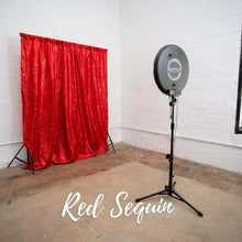 Load image into Gallery viewer, Red Sequin Holiday Party Photo Booth Backdrop
