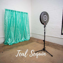 Load image into Gallery viewer, Teal Sequin Photo Booth Backdrop