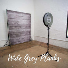 Load image into Gallery viewer, Wide Grey Planks Rustic Wedding Backdrop