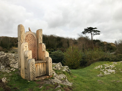 Giant Wooden Throne