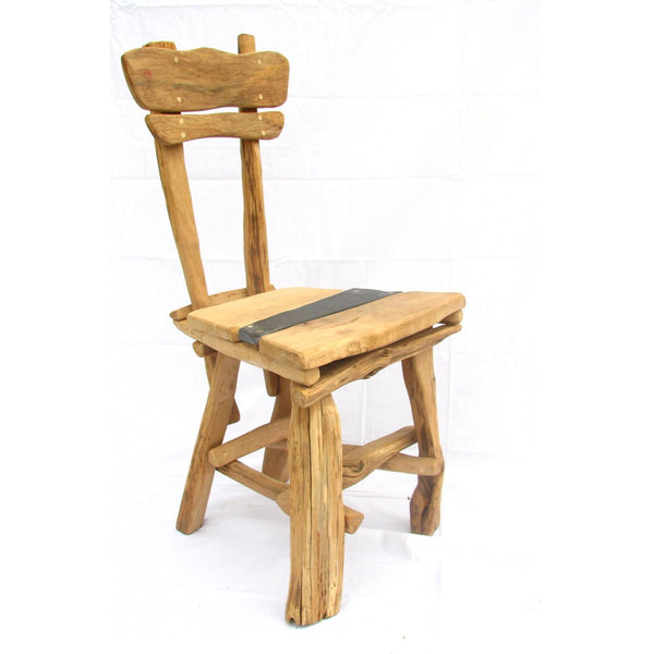 organic wooden dining room chair