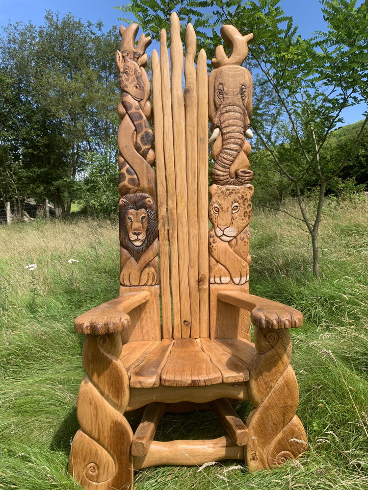 hand-carved african chair