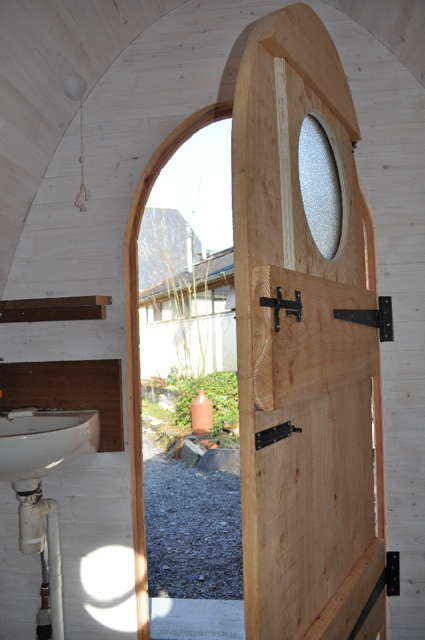 composting toilet door