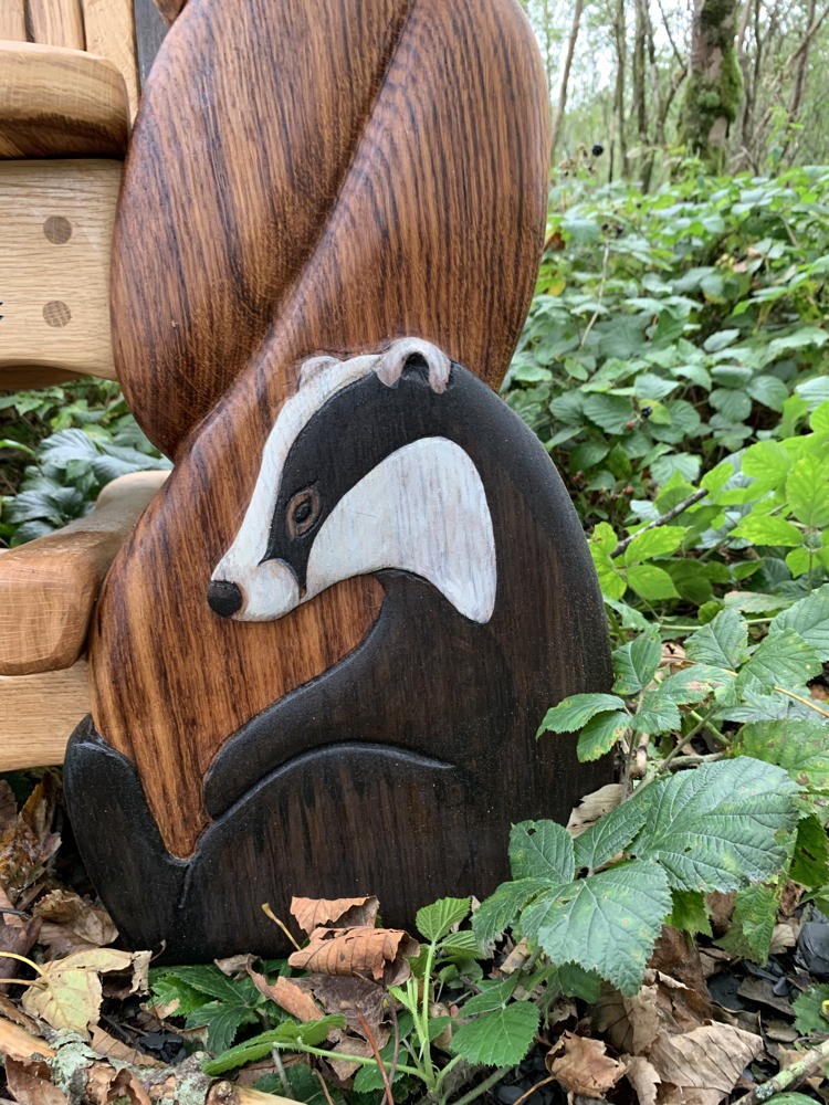 badger carved chair