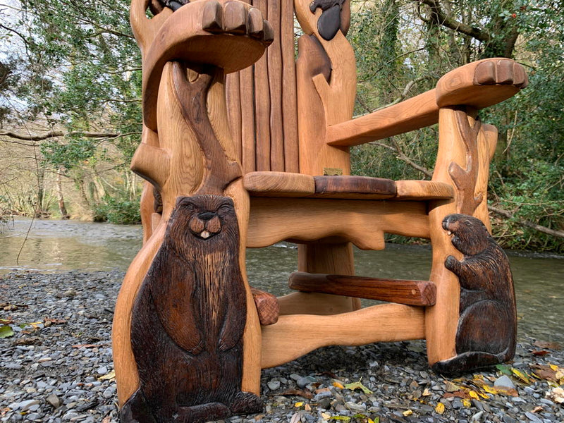 beaver storytelling chair