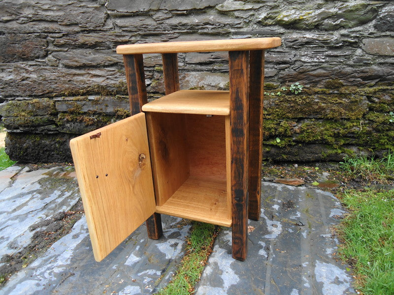rustic bed side table cupboard