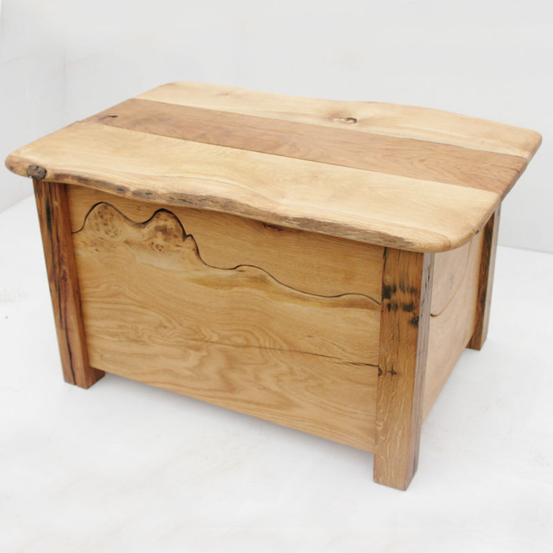 reclaimed oak blanket box