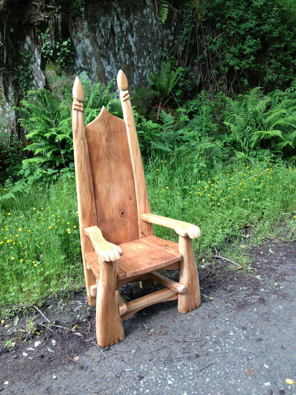 hand-carved story telling  chair