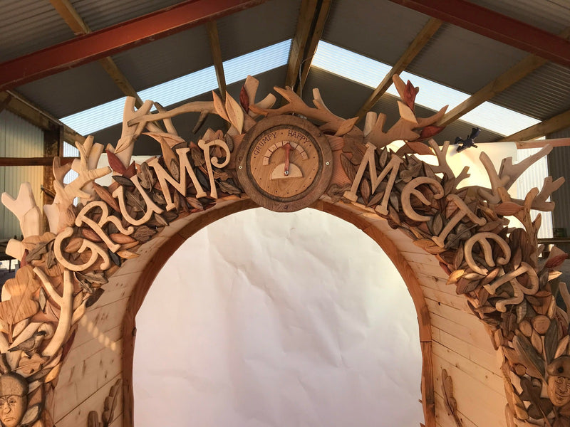 carved wood arch