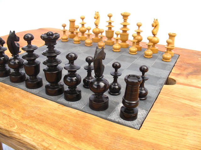 Chess pieces and Table