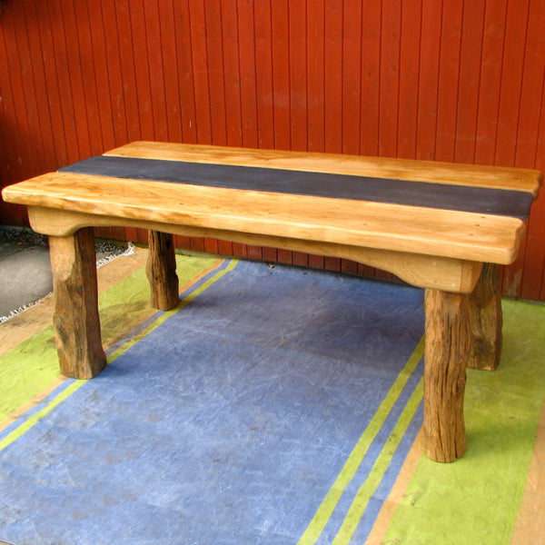 Chunky Oak Patio Table