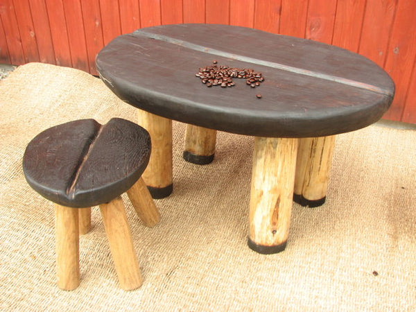 Black Coffee Bean Table