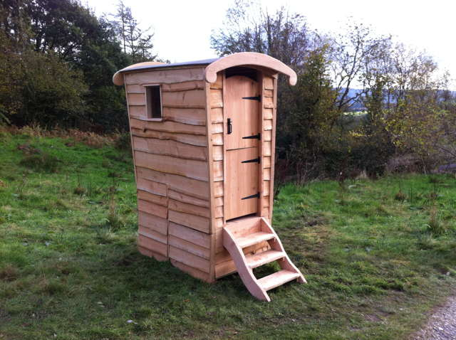 wooden compost toilet