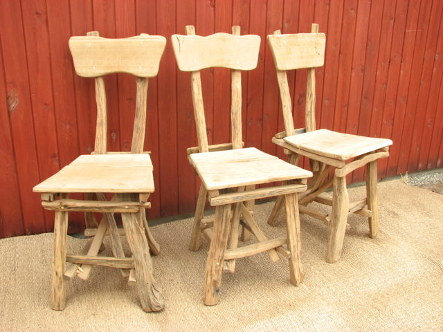 Rustic Oak Dining room Chair Set