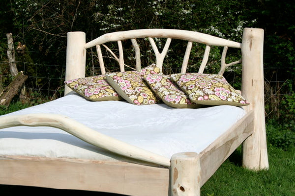 king size driftwood bed
