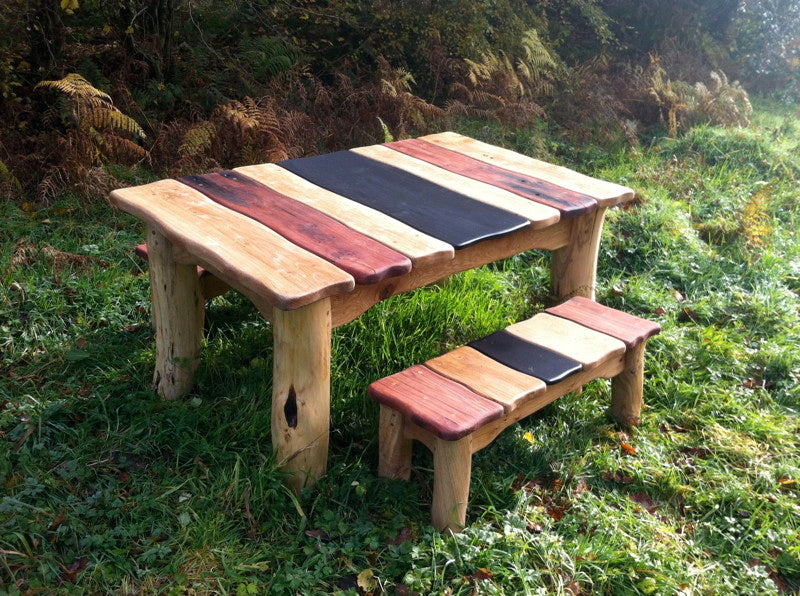 handmade outdoor table