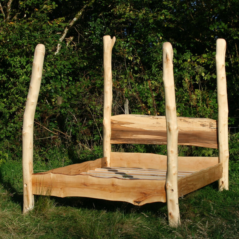 Driftwood Four Poster Tree Bed