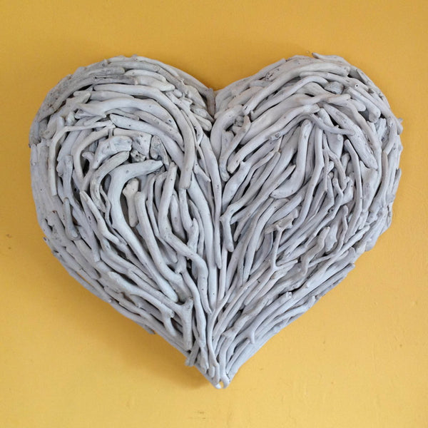 you can  make a driftwood heart